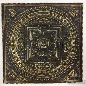 Beautiful Vintage Hand Crafted Brass Raised Mandala Wall Hanging ॐ