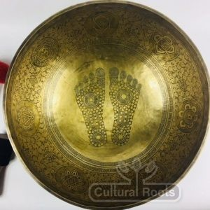 "20"" Hand Made 7 Metal Beautifully Carved Sound Therapy Singing Bowl - 10.4KG_1"
